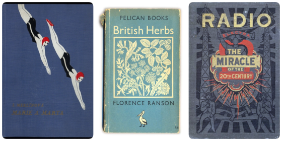 Book covers from the 1920's, 1930's and 1940's