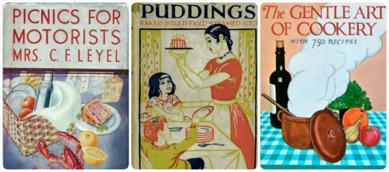 Three of Hilda's cookbooks.