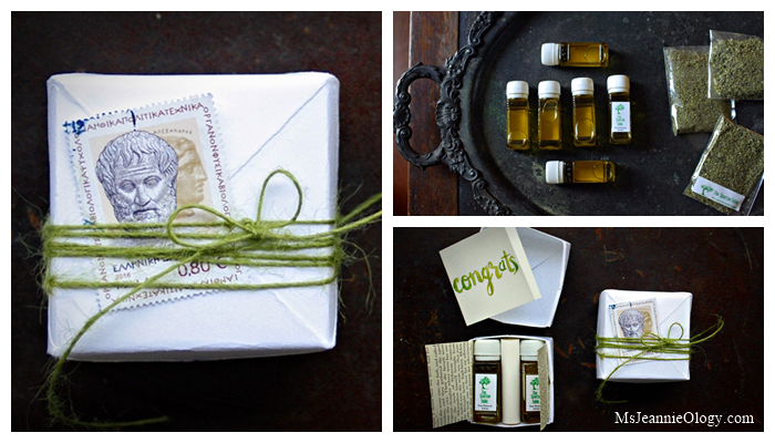 This was a recent giveaway featuring Greek olive oil from the century old family olive trees of The Spartan Table's and local oregano from the Taygetus Mountains. See the post here.