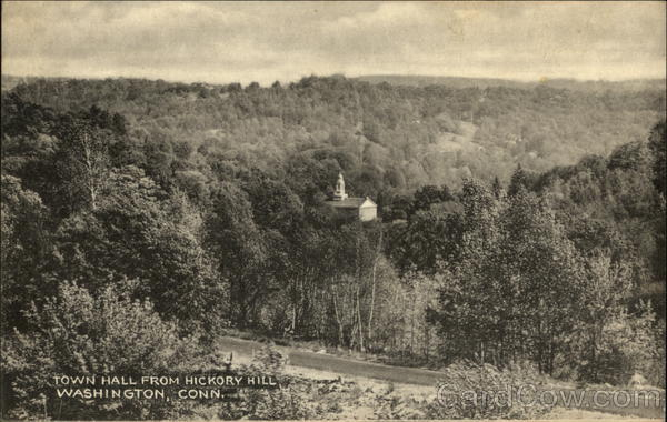 View of Town Hall from Hickory HIll Washington, CT