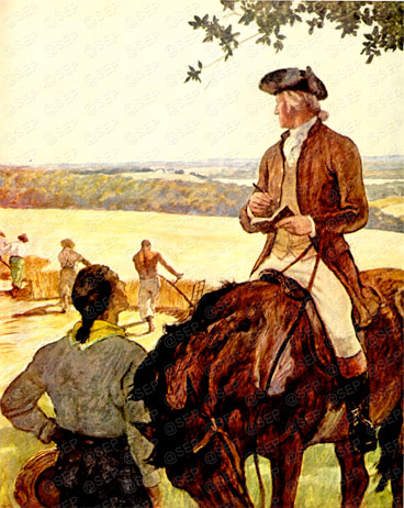 N.C. Wyeth painting of George Washington from the February 1946 edition of the Saturday Evening Post