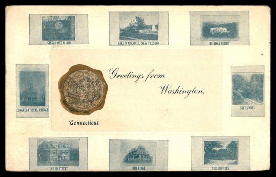 Early 1900's postcard of Washington, CT