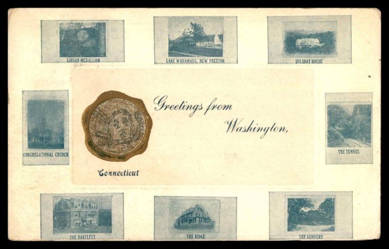 Early 1900's postcard of Washington, CT