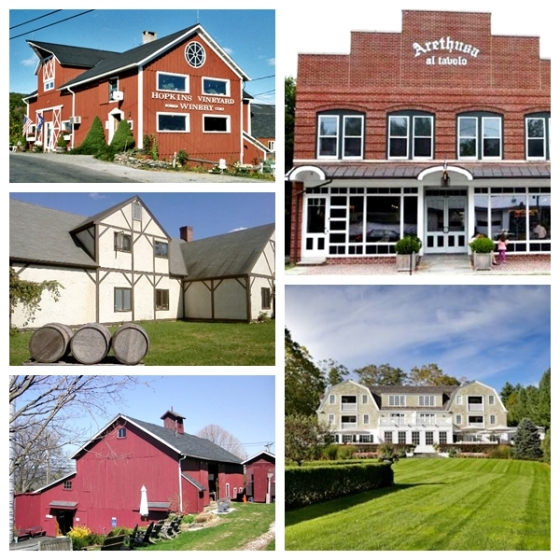 Pictured clockwise from top left: Hopkins Vineyard, Arethusa Al Tovolo; The Mayflower Grace;
