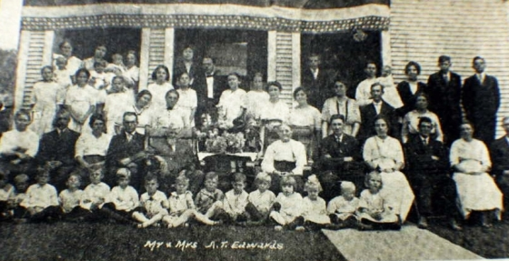 Albert, Martha, their children and grandchildren