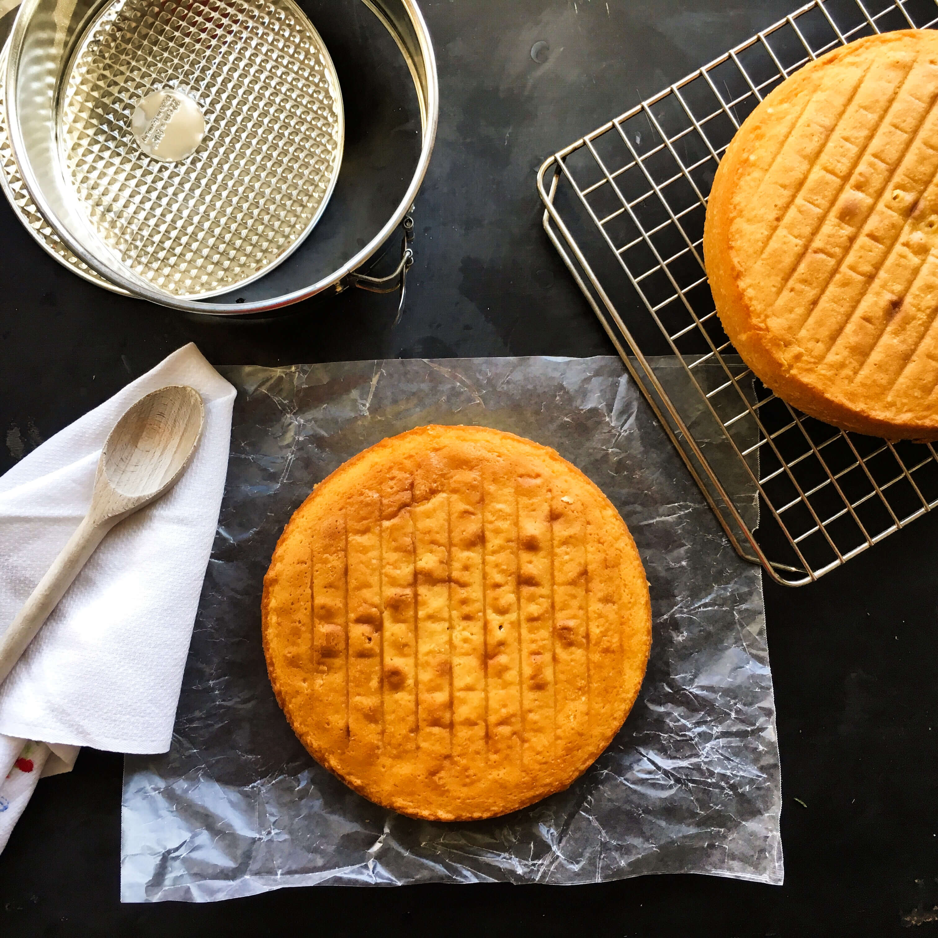 I Used Martha Stewarts Butter Cake Recipe Which Turned Out Great Because It Baked Flat And Even On All Sides Characteristics You Definitely Want When
